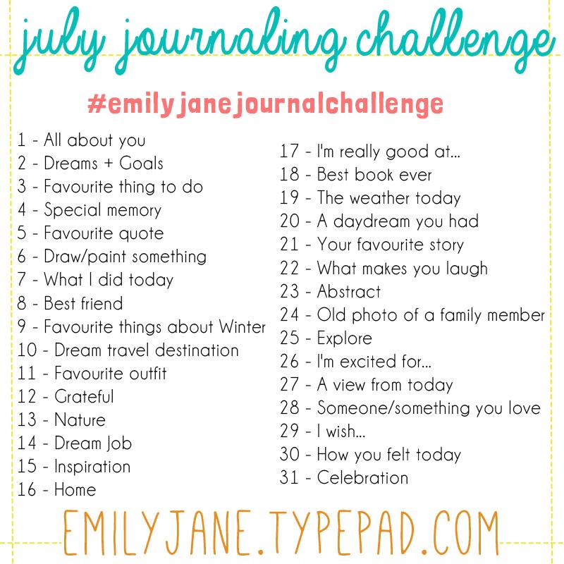 Instagram journal challenge pic