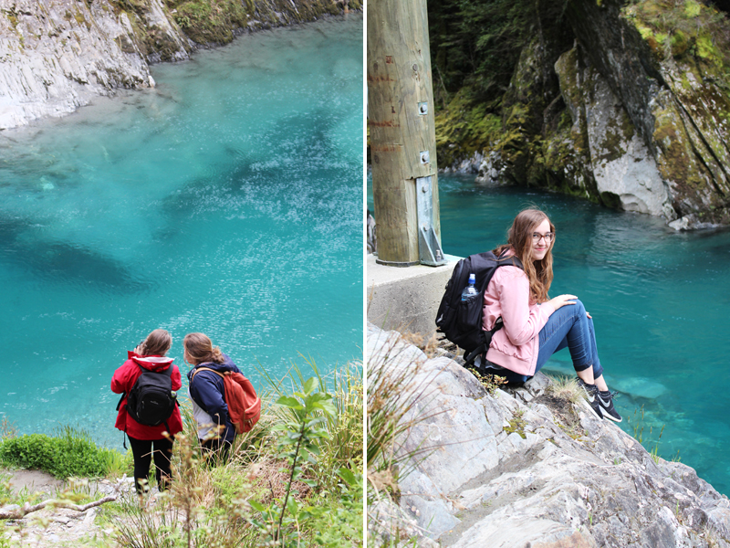 New zealand south island blue pools