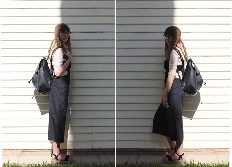 Emilyjaneblog outfitpost fashion tobijumpsuit fauxleatherbackpack jeanswestturtleneck runishoesplatformshoes2