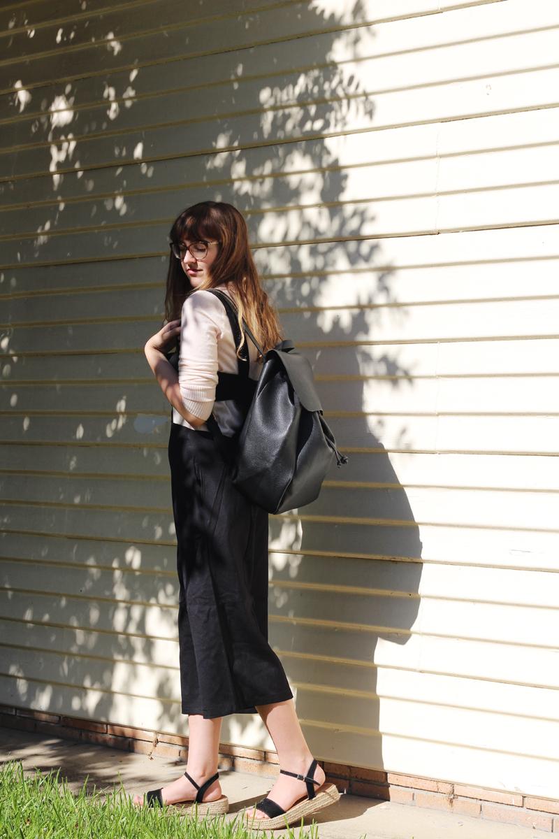 Emilyjaneblog outfitpost fashion tobijumpsuit fauxleatherbackpack jeanswestturtleneck runishoesplatformshoes4