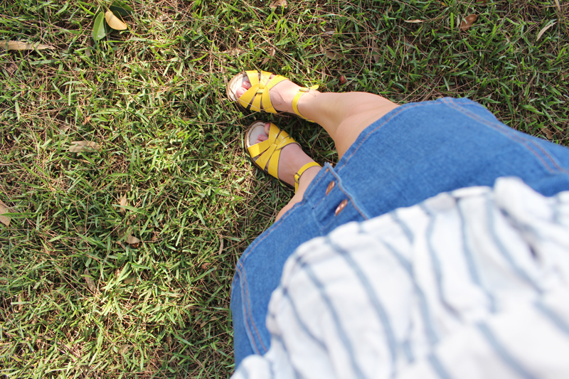 Emilyjaneblog fashion outfit post topshop supre saltwater sandals2
