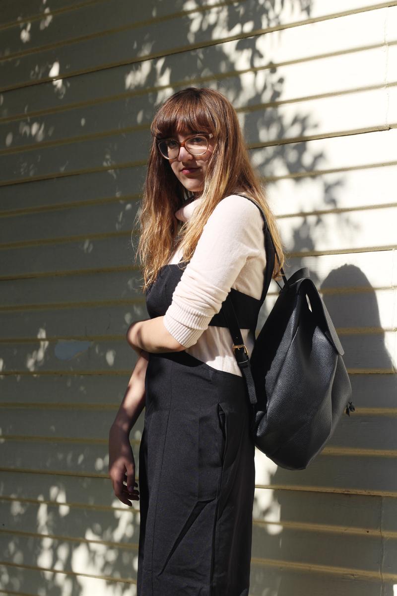 Emilyjaneblog outfitpost fashion tobijumpsuit fauxleatherbackpack jeanswestturtleneck runishoesplatformshoes1