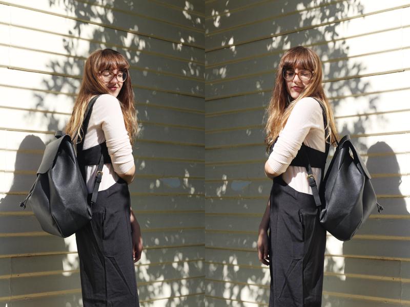Emilyjaneblog outfitpost fashion tobijumpsuit fauxleatherbackpack jeanswestturtleneck runishoesplatformshoes6