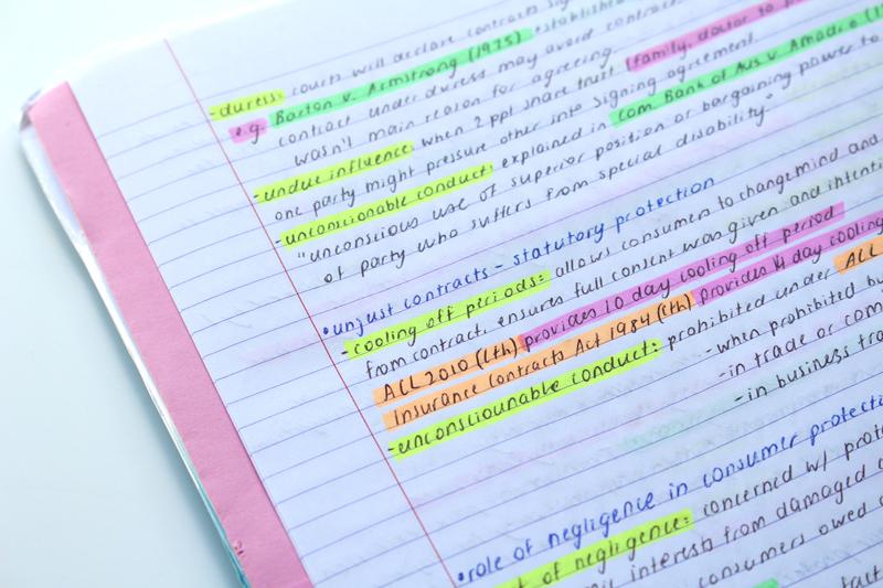 Emilyjaneblog Back To School study tips using color organisation high school hsc5